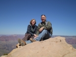 Larry Carmichael with Daughter Mary at the Grand Canyon, 2008