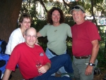 Margaret & Mike Blume (lft), Leslie Cohn Wilson, Mark & Gloria Myers (Gloria not in picture) got together in San Francis