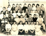 4th Grade Potomac Elementary School.  First row: second from left Sallie Coleman. Second row: Mike  Riley,---,----,---,