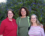 Merle Ladd Silverman, Leslie Cohn Wilson, Patty Marks - The California contingent; the 3 of us had a wonderful dinner at