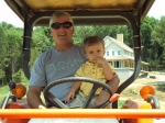 Dave Shrum and grandson Collin in Alabama July 09